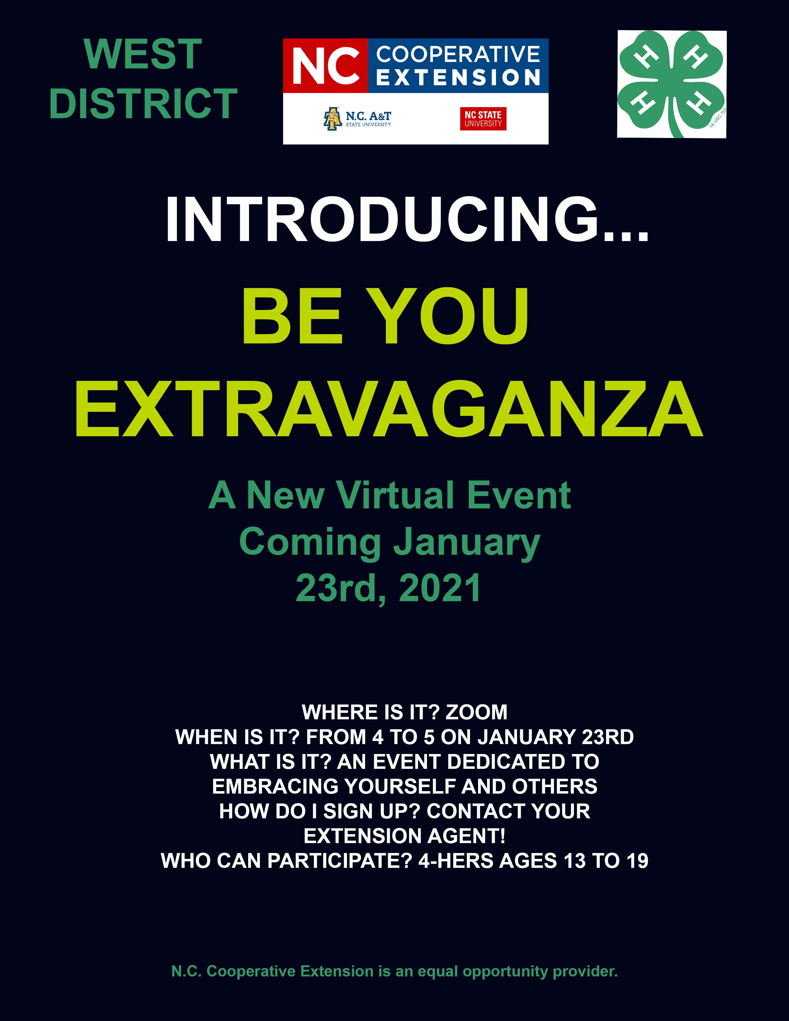 Be You Extravaganza flyer