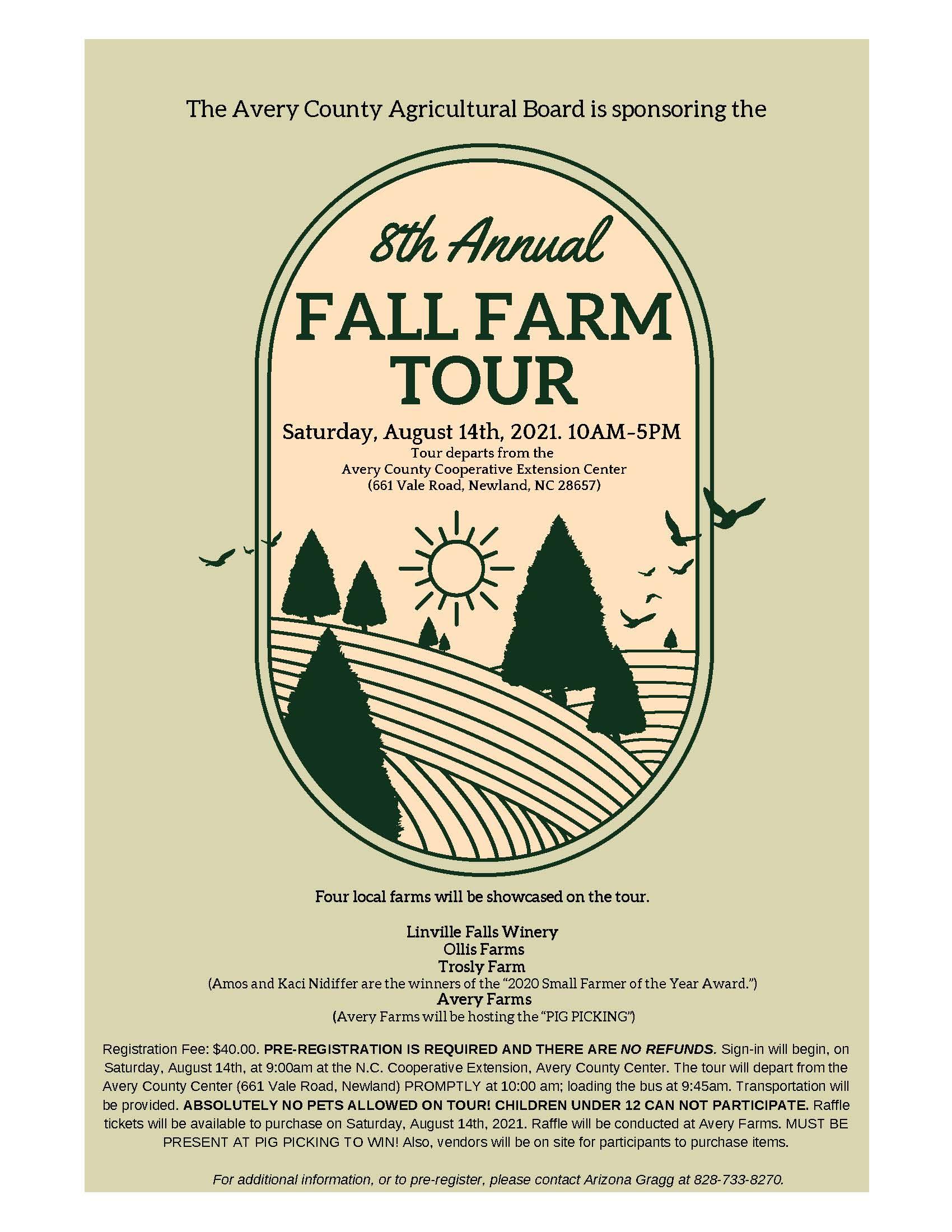 Fall Farm Tour flyer