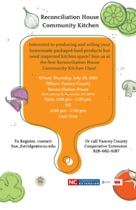 Cover photo for Yancey County Reconciliation House Community Kitchen Class