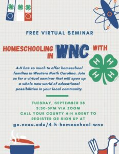 Cover photo for Homeschooling in WNC With 4-H